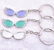 Stainless Steel Glasses Key Chain Ring Keyring(Random Color)