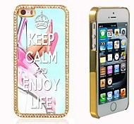 behalten Sie Ruhe und genießen Sie das Leben Design Luxus-Hybrid-Bling Funkeln-Schein mit Kristallrhinestone-Kasten für iPhone 5/5 s