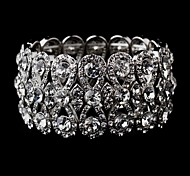 Luxurious Diamond Aolly Silver Bracelet For Women Lades Bridal Birthday GIft Party Beach Wedding Dance