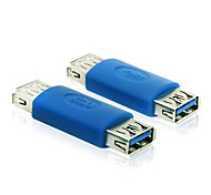 USB 3.0 Type A External Female to Female Connector Cable Extender Adapter Blue