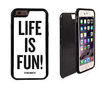 Life is Fun Design 2 in 1 Hybrid Armor Full-Body Dual Layer Shock-Protector Slim Case for iPhone 6 Plus