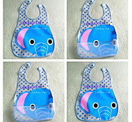New Baby  Waterproof Transparent EVA Material Animal Pattern Bib (Random Pattern)