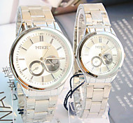 Couple's New Explosion Round Dial Steel Strap Waterproof Quartz Watch Cool Watches Unique Watches