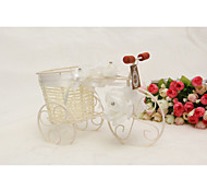 Rattan Bicycle Flower Vase Candy Containers for Wedding Home Decoration Centerpiece