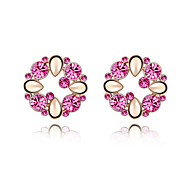 Beautiful color with diamond crystal earrings