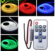 5M 25W 300x3528SMD  Green / Blue / Pink / Yellow / Red / Cold White / Warm White LED Strip Lamp + 11-Key RF Controller