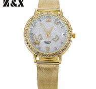 Women's Fashion Diamond Lovely Butterfly Print Quartz Analog Steel Belt Wrist Watch(Assorted Colors)