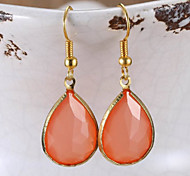 Fashion Acrylic Crystal Pendant Earrings