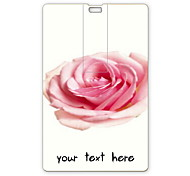 Personalized USB Flash Drive Rose Design 64GB Card USB Flash Drive