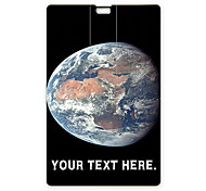 Personalized USB Flash Drive The Earth Design 64GB Card USB Flash Drive
