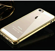 KX Brand Golden Version Metal Frame Acrylic Transparent Backplane Metal Hard Case for iPhone 5/5S(Assorted Colors)