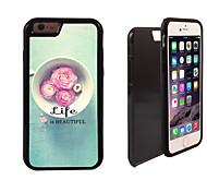 das Leben ist schön Muster 2 in 1-Hybrid Rüstung Ganzkörper-Dual-Layer-Schock-Schutz schlanke Fall für iPhone 6 Plus