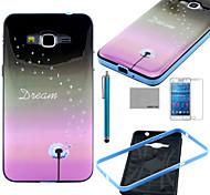 patrón de diente de león sueño caso del tpu suave de coco Fun® con protector de pantalla y el lápiz para la galaxia gran G530 prime