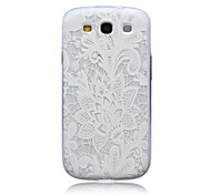 For Samsung Galaxy Case Translucent Case Back Cover Case Lace Printing TPU Samsung S3