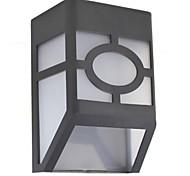 hry® 2leds blanc lampe de clôture de lumière de couleur des lampes solaires