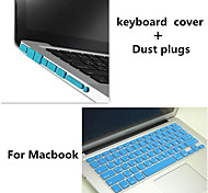 High Quality Solid Color TPU Keyboard Cover and Dust plugs for Macbook Pro 15.4 inch (Assorted Colors)