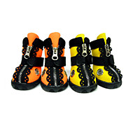 Cat / Dog Shoes & Boots Yellow / Orange Spring/Fall Mixed Material