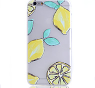 Lemon Pattern Summer Cool Thin Transparent TPU Phone Case for iPhone 6