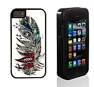 Colorful Feather Design 2 in 1 Hybrid Armor Full-Body Dual Layer Shock-Protector Slim Case for iPhone 5/5S