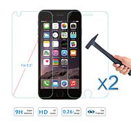 """2pcs protetor de tela venda quente vidro temperado frente filme protetor&de volta para Apple iPhone 6, além de 5,5 """""""