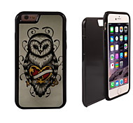 Unique Owl Design 2 in 1 Hybrid Armor Full-Body Dual Layer Shock-Protector Slim Case for iPhone 6