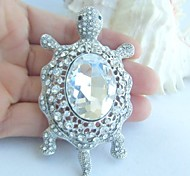 Women Accessories Silver-tone Clear Rhinestone Crystal Tortoise Turtle Brooch Art Deco Scarf Brooch Women Jewelry