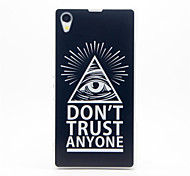 Eye Pattern Plastic Hard Back Case Cover for Sony Z1