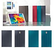 Para Funda Samsung Galaxy con Soporte / Flip / Origami Funda Cuerpo Entero Funda Un Color Cuero Sintético Samsung Tab S 8.4