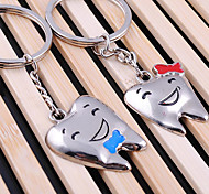 Stainless Steel Teeth Couple Key Chain Ring Keyring