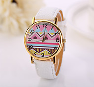 New Fashion Watch Women Watches Geneva Dial Faux Leather Strap Quartz Casual Wrist Watch Relogios Feminino Gift