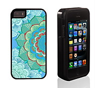 Elegant Lotus Pattern 2 in 1 Hybrid Armor Full-Body Dual Layer Shock-Protector Slim Case for iPhone 5/5S