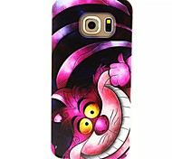 Big Face Cat Pattern TPU Soft Case Cover for Samsung Galaxy S6 edge