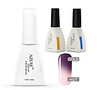 azur 3 pièces / lot caméléon température de vernis à ongles pour tremper-off nail art (N ° 22 + base + haut)