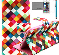 COCO FUN® Color Weave Pattern PU Leather Case with Screen Protector and Stylus for iPhone 6/6S