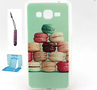 Bread  Pattern TPU Case Soft Cell Phone Cases  for Samsung Galaxy Alpha/G5308