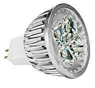 GU5.3(MR16) 4W 4 High Power LED 360-400 LM Warm White / Cool White / Natural White MR16 Dimmable LED Spotlight DC 12 / AC 12 V