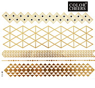 1Pc Gold Long Bracelet Tattoo Sticker 23x15.5CM