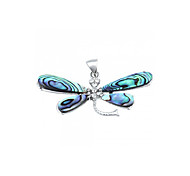 Dragonfly Shape Shell Alloy Rhinestone Pendant Jewelry for Necklace Fashion