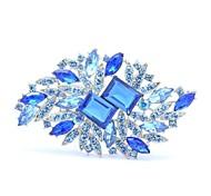 flor partido broche broches jóias de strass espeto das mulheres (mais cores)