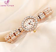 mulheres populares banda flor Crytsal ouro rosa vestir relógios de quartzo senhoras moda strass mulheres relógio de pulso