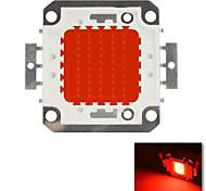diy 50w cor vermelha chip de lâmpada de poupança de energia de alta potência levou módulo (dc 30-34v)