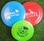 Dog Pet Toys Flying Disc Cartoon Random Color Plastic