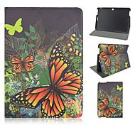 10.1 pollici caso del basamento del modello di farfalla cuoio dell'unità di elaborazione per il rilievo asus memo 10 me103k