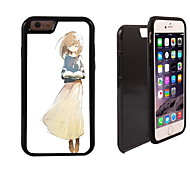 Beautiful Girl Design 2 in 1 Hybrid Armor Full-Body Dual Layer Shock-Protector Slim Case for iPhone 6 Plus