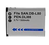 1300mAh batería de la cámara para db-l80-s / d-LI88