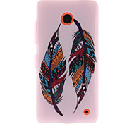 Colored Feather Patterns TPU Soft Case for Nokia N630