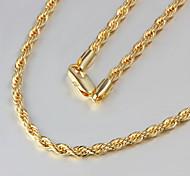 moda venda quente ligação ouro verdadeiro colar de alta qualidade finas jóias