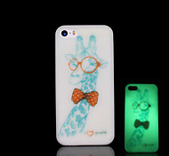 Giraffe Pattern Glow in the Dark Cover for iPhone 4 / iPhone 4 S Case