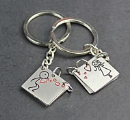 Alloy Blowing Bubbles Lovers Lettering Open Books Key Chain