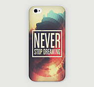 Never Pattern PC Phone Case Back Cover for iPhone 6 Case
